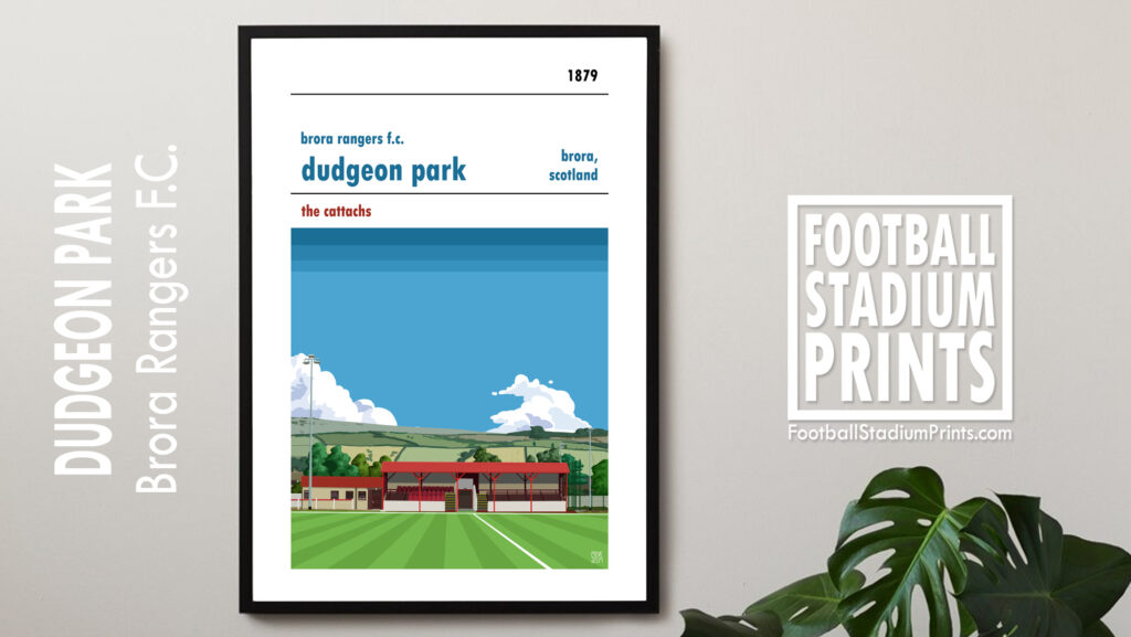 Brora Rangers and Dudgeon Park framed football print