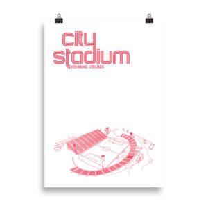 Medium City Stadium and Richmond Kickers Soccer Print