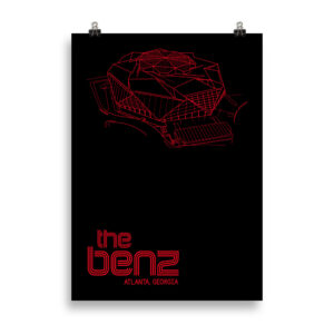 Large The Benz and Atlanta United Soccer Print