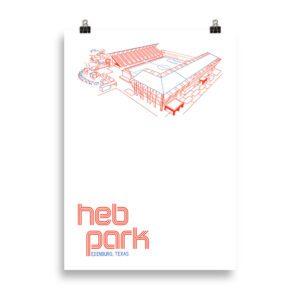 HEB PArk and Rio Grande Valley FC Toros soccer print