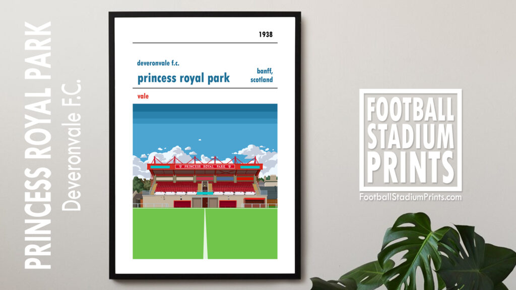 Deveronvale and Princess Royal Park Framed Football Print